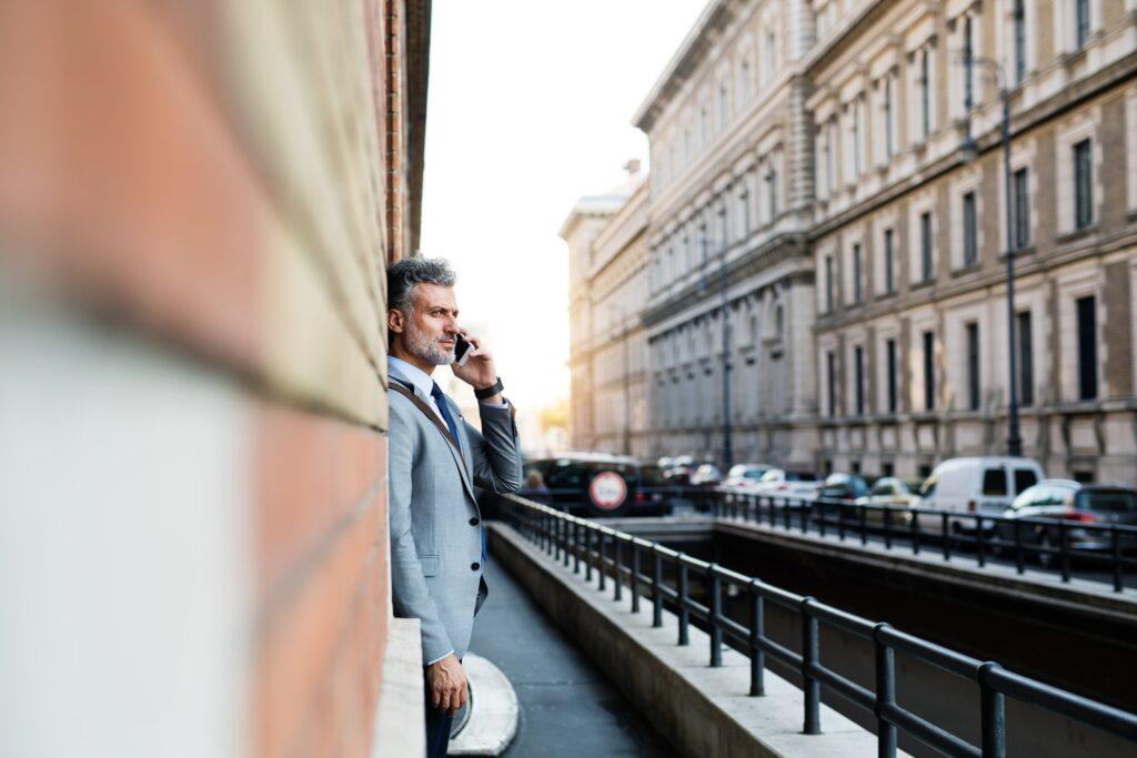 Affärsman i Italien